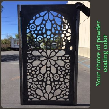 Custom Made New Abstract Modern Urban Design Steel Pedestrian Gate