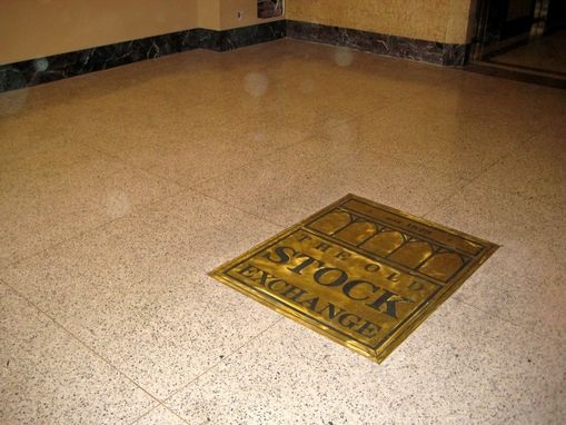 Custom Made Logos  On Terrazzo Floor