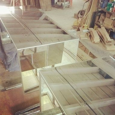 Custom Made Pair Of Polished Nickel Coffee Tables