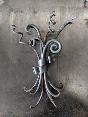 Custom Made Curly Steel Floral Arrangement
