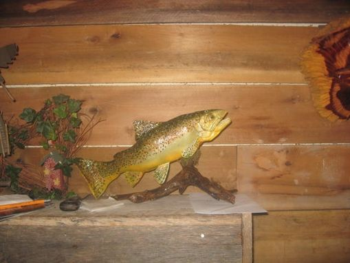 Custom Made Hand Carved German Brown Trout