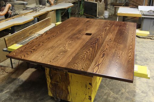 Custom Made Solid 6/4 Red Oak Rustic Confrence Table
