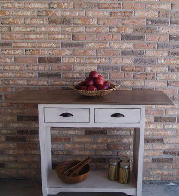 Custom Made Two Drawer Kitchen Island Hardwood
