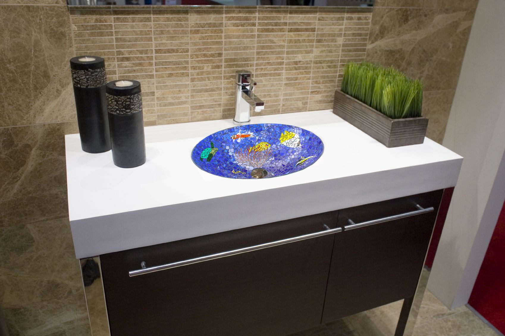 buy a crafted tropical paradise mosaic bathroom sink 18031