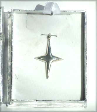 Custom Made Custom Sterling Silver Rectangular Necklace Charm