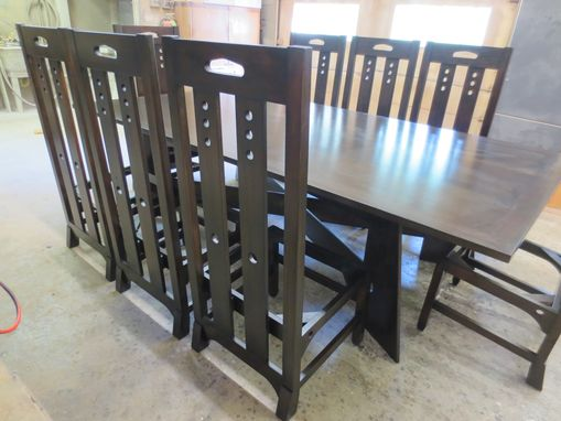 Custom Made Charles Rennie Mackintosh 'Style' Dinning Room Table And Chairs.