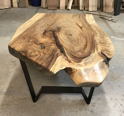Custom Made Live Edge Ombre Coffee Table
