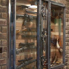 Custom gun cabinets gun cases gun racks gun storage antique wall safe by paul silva planetlyrics Choice Image