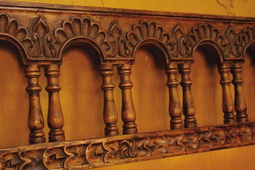 "Custom Made Carved Colonial ""Arequipa"" Bench"