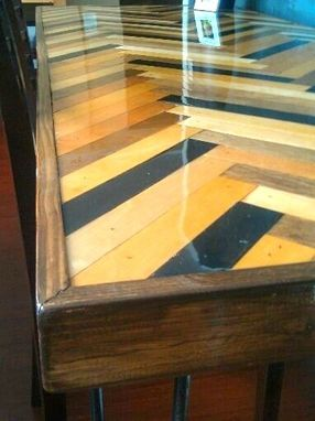 Custom Made Herringbone Desk Or Dining Table