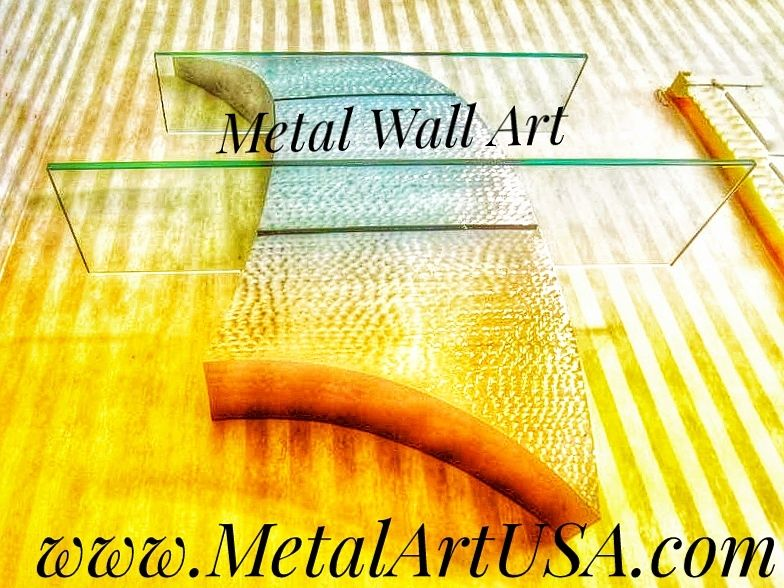 Handmade Curves Shelving / Metal Sculpture / Wall Decor / Metal Art ...