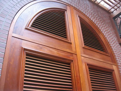 Custom Made Mahogany Louver Doors