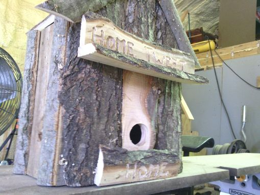 "Custom Made Repurposed ""Home Tweet Home"" Bird House"