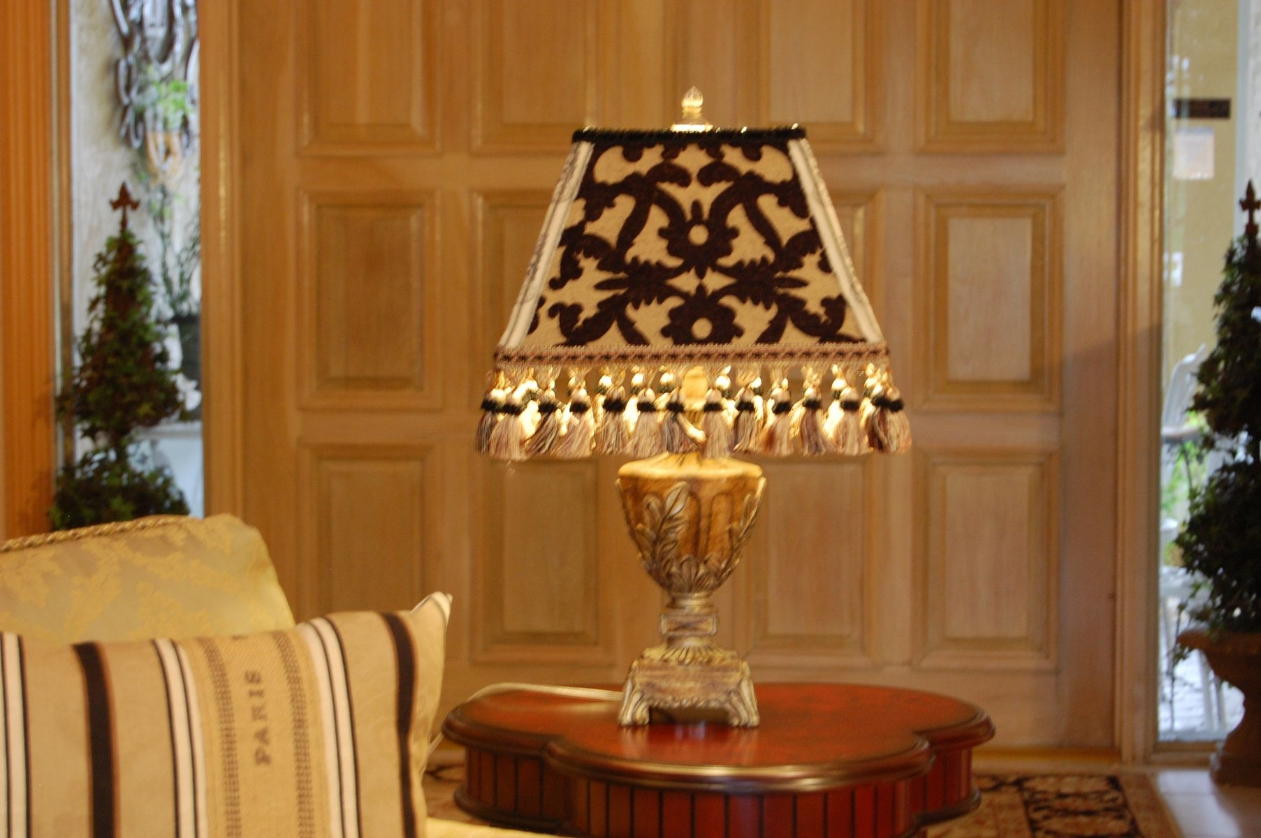 Custom Lamp Shade: Custom Made Custom Made Black And Gold French Lamp Shade,Lighting