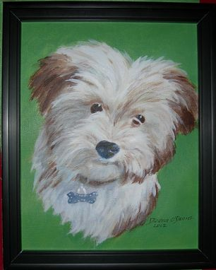 Custom Made Custom Dog Pet Portrait Of Flip, A Havanese