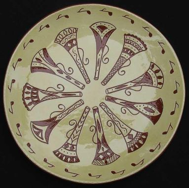 "Custom Made ""Eleven Pipers Piping""  Ceramic Plate"