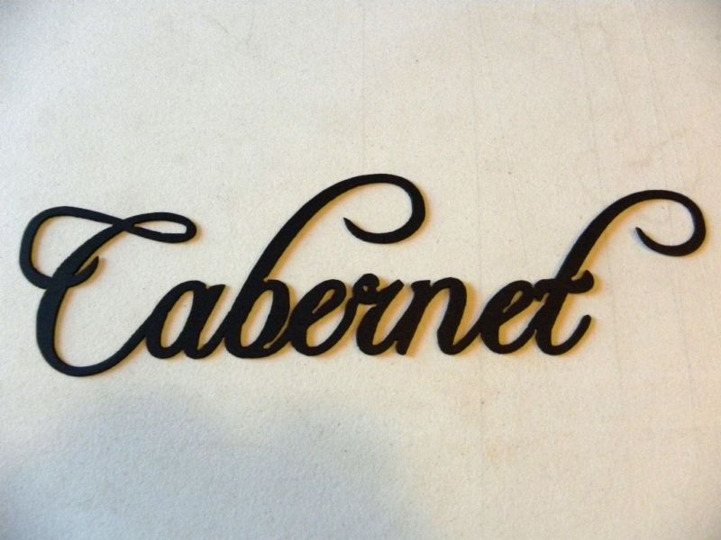 Hand Made Cabernet Wine Word Home Kitchen Decor Metal Wall ...
