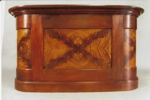 Custom Made Crotch Mahogany Bar