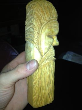 Custom Made Hand Carved Basswood Native American With Beard