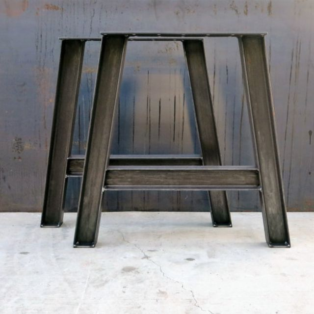 industrial best legs prefabricated on metal etsy furniture images table