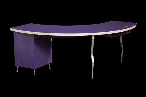 Custom Made Demiluna Designer Desk, Funky Modern Cool
