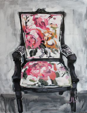 Custom Made Impressionist Chair Original Jaimee Dawn Acrylic Painting