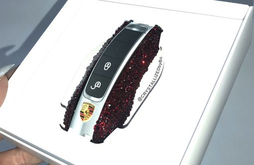 Custom Made Crystallized Porsche Key Sides Car Bling Made With Swarovski Crystals Bedazzled