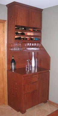 Custom Made Pecan Wine Bar