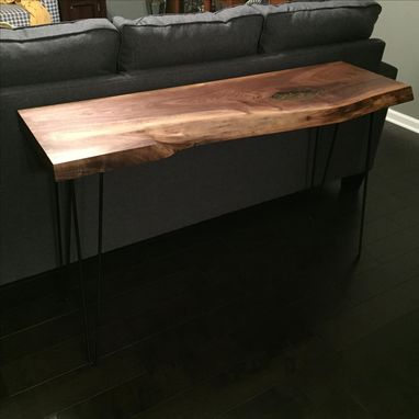 Custom Made Walnut Liveedge Sofa/Console Table