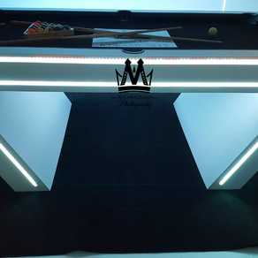 virtual reality vr pool table glow in the dark pool table cool pool tables by mccorkle designs