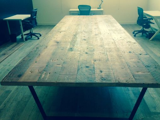 Custom Made Reclaimed Wood Tables W/Steel Bases