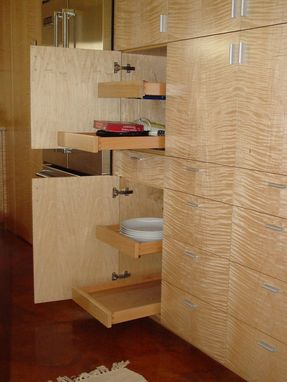 Custom Made Tiger Maple Kitchen