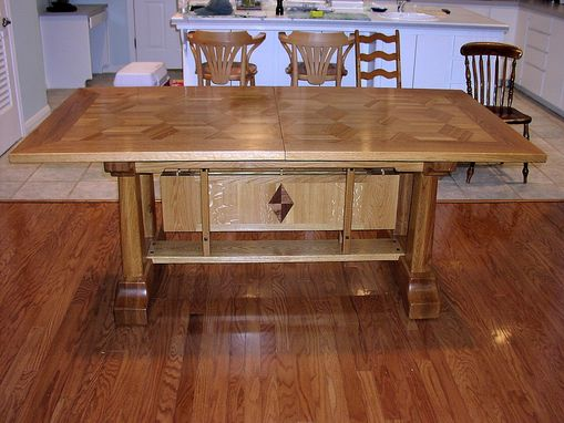 "Custom Made ""Quilt""  Oak Dining Table"