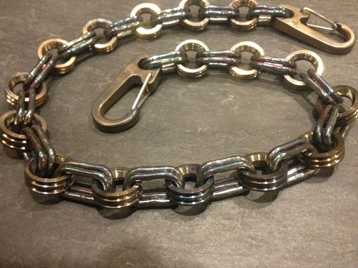 Custom Made Sterling Silver And Titanium Wallet Chain