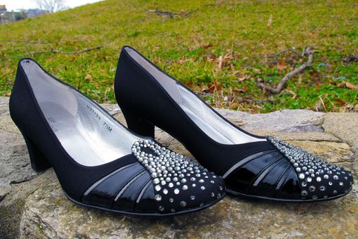 Custom Made Black Magic Custom Swarovski Crystal Embellished Shoes
