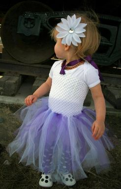 Custom Made Princess Tulle Crocheted Halter Tutu Dress White, Purple, Lavender Size Nb-6t Free Usa Shipping.
