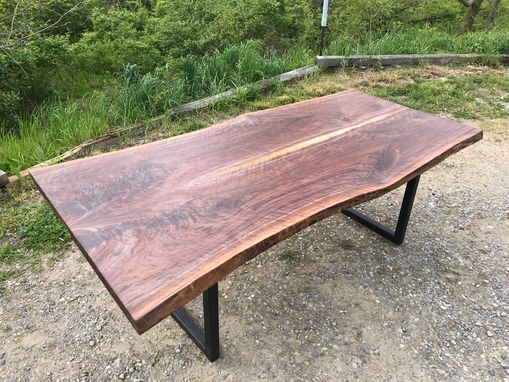 Custom Made Live Edge Highly Figured Walnut Dining Table