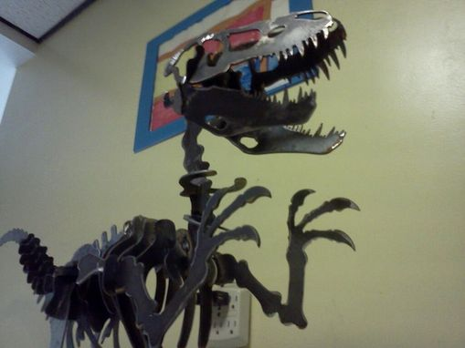 Custom Made Alosaurus 3-D Metal Sculpture