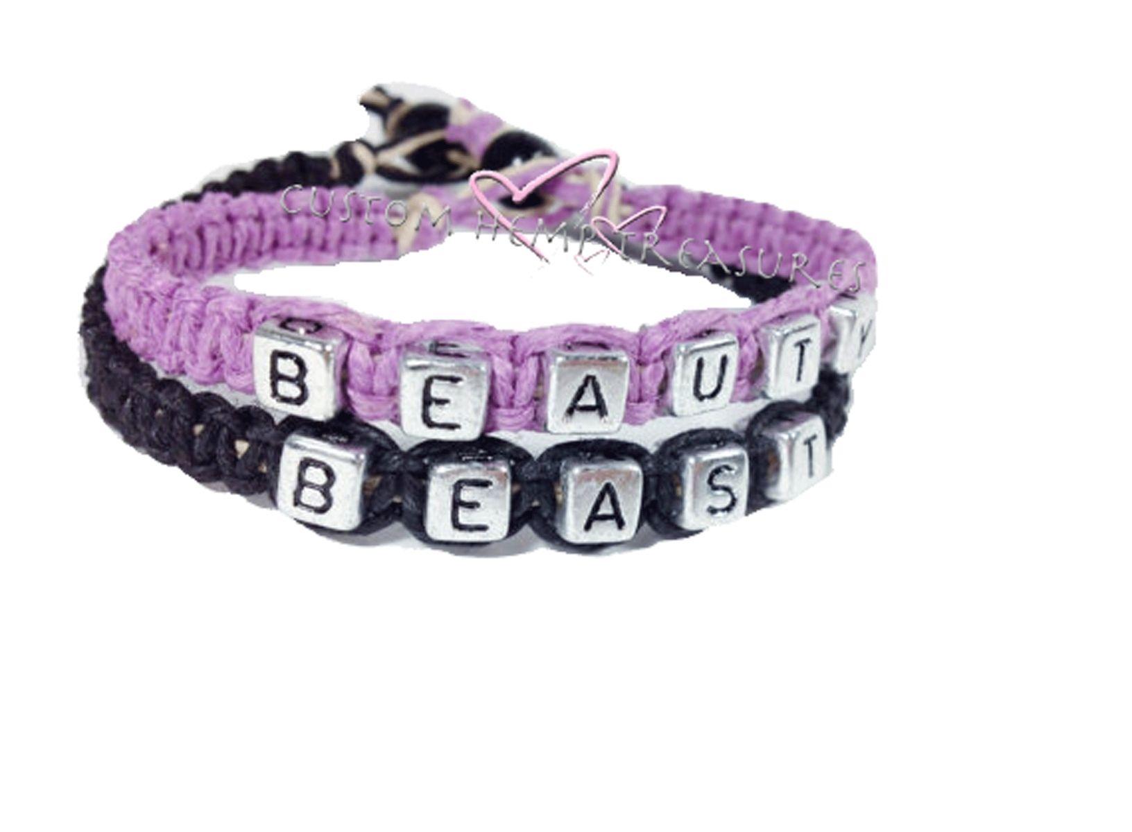 Buy Handmade Beauty Beast Couples Bracelets Personalized Bracelets ...