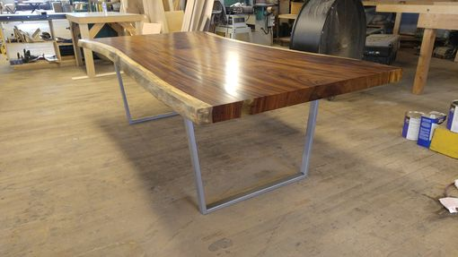 Custom Made Guanacaste Table With U Shaped Base