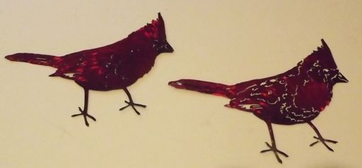 Custom Made Cardinal Metal Wall Art Sculpture