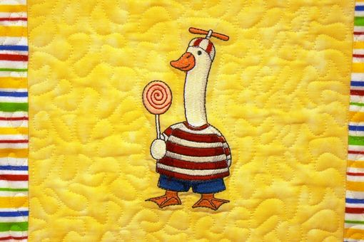 Custom Made Goosey Gander Flannel Throw Quilt For Baby Boys