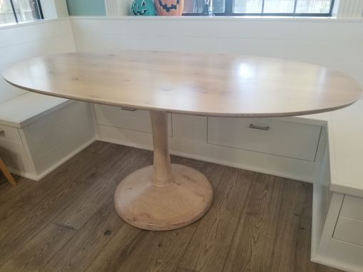 Custom Made Knotty Alder Oval Dining Table  Modern Style