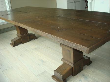 Reclaimed Wood Dining And Sofa Table Set. - Custom Reclaimed Wood Dining And Sofa Table Set. By Jay's Custom
