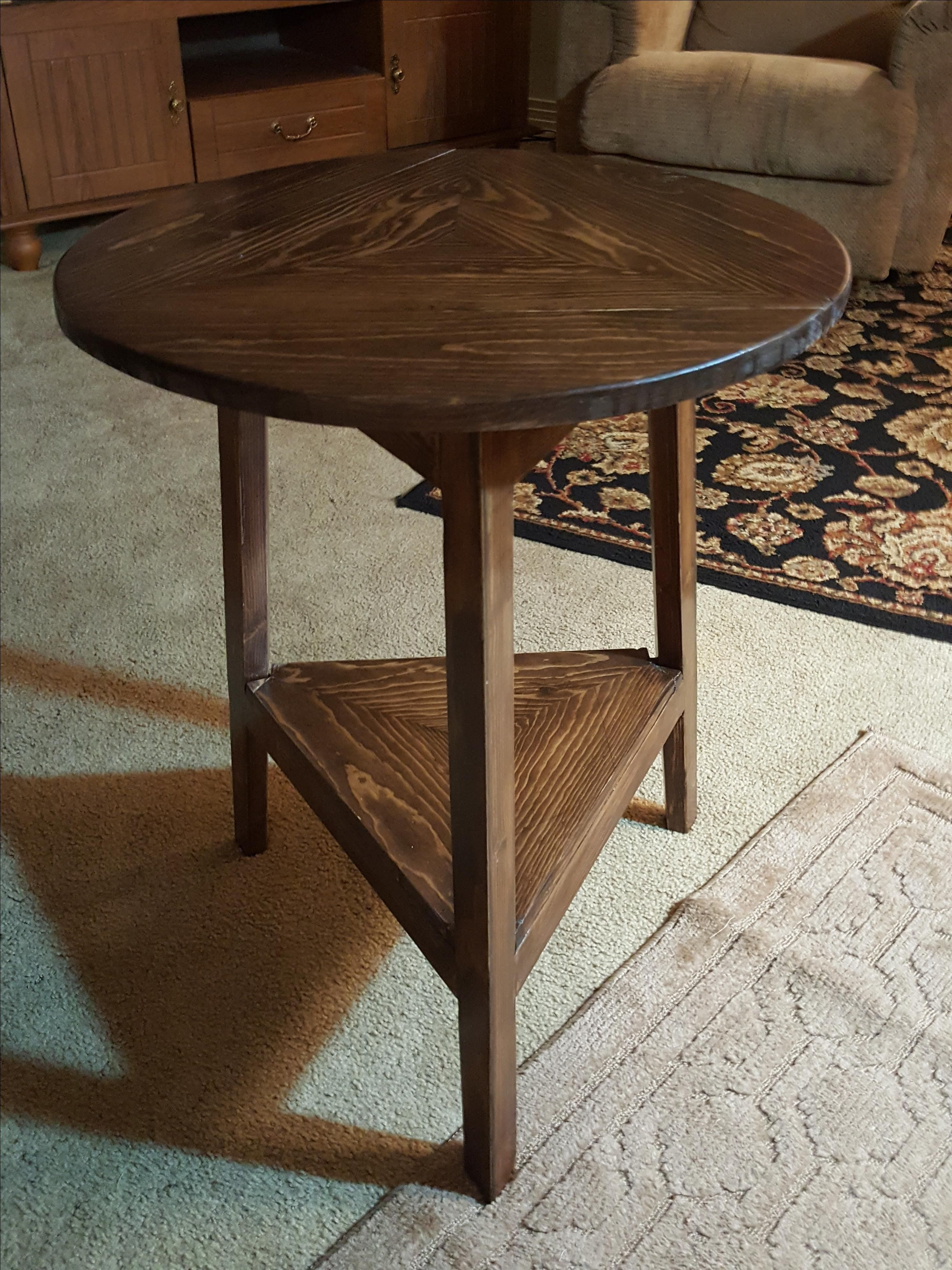 Custom Cricket Drop Leaf Side Table With A Twist By Purple Rag