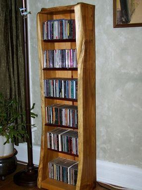 Custom Made Natural Edge Media Shelving