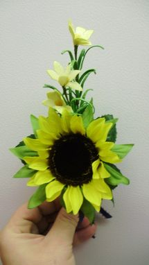 Custom Made Large Sunflower Bridal Bouquet Country Or Fall Wedding Flower Package
