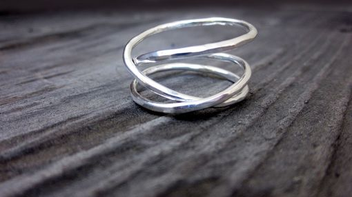 Custom Made Custom Sterling Silver Mobius Ring