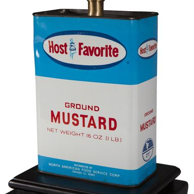 Custom Made Vintage Mustard Spice Tin Lamp