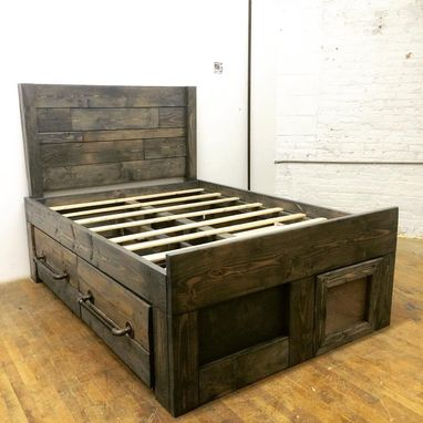 Custom Made Custom Xl Platform Strorage Bed